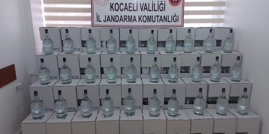 2 bin 500 litre kaçak  alkol ele geçirildi