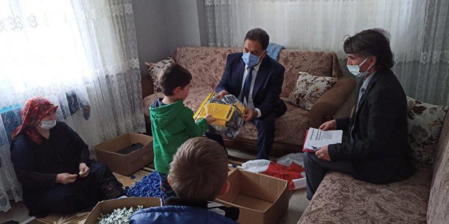 Kaymakam Güler'den  5 aileye ziyaret