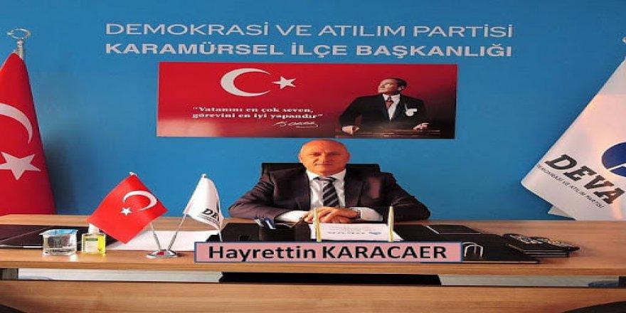 DEVA Partisi ilçe başkanı görevinden istifa etti