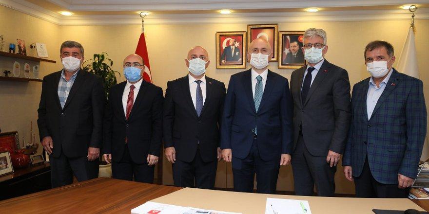 Bıyık, Ulaştırma Bakanı Karaismailoğlu'nu ağırladı