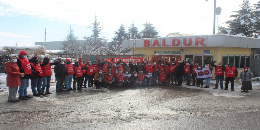 Baldur işçileri Ankara'ya gidiyor