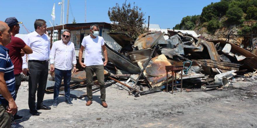 CHP Kocaeli, yangın mağduru balıkçıların yanında