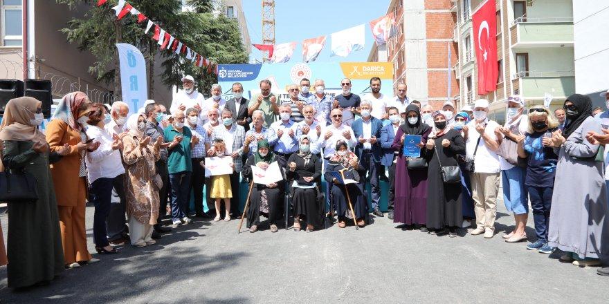 Darıca'da hak sahipleri tapularına kavuştu