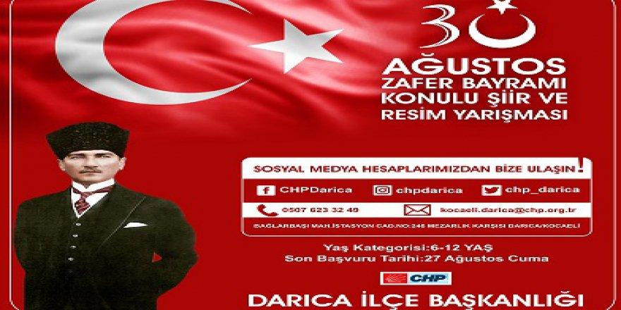 CHP Darıca'dan 30 Ağustos resim yarışması
