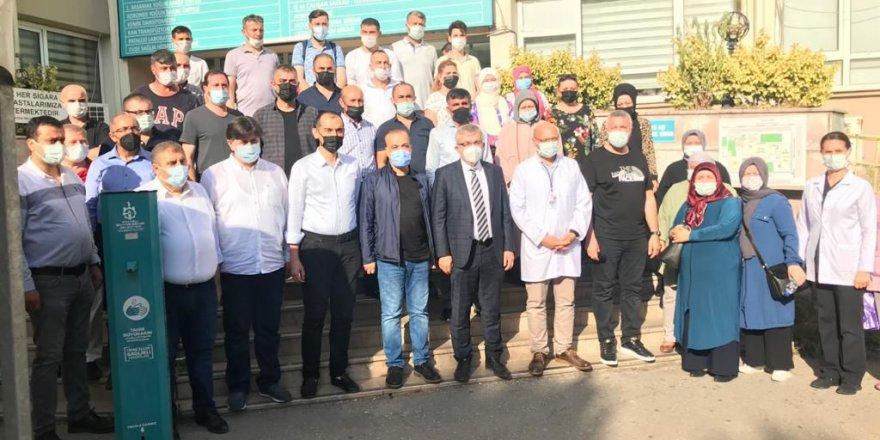 AK Partililerden aşı çalışmalarına destek