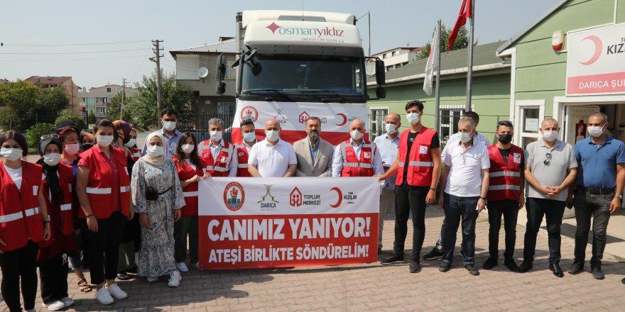 Darıca'dan Manavgat'a yardım tırı