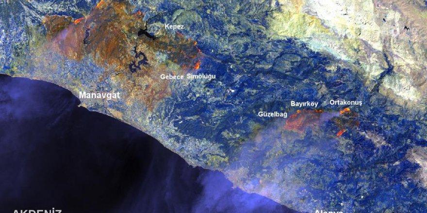 Manavgat yangını GTÜ tarafından haritalandı