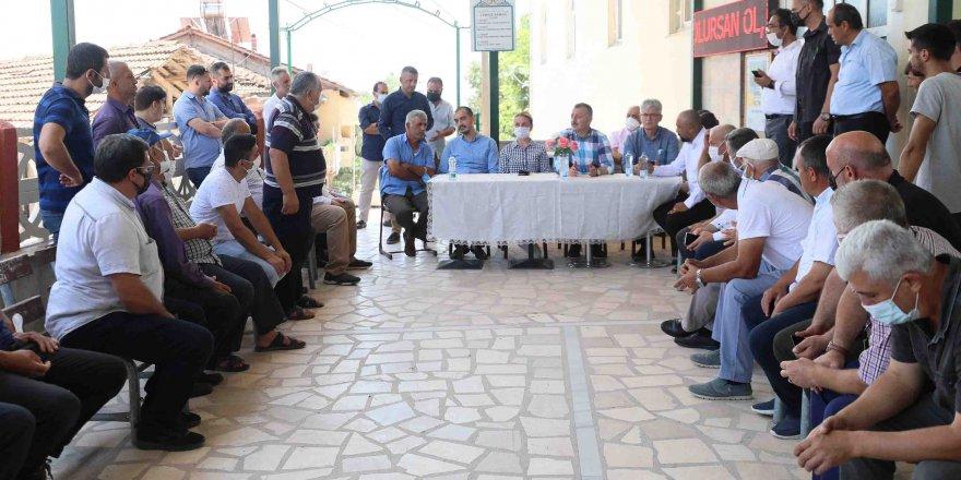 Başkan Büyükakın'dan köylere ziyaret