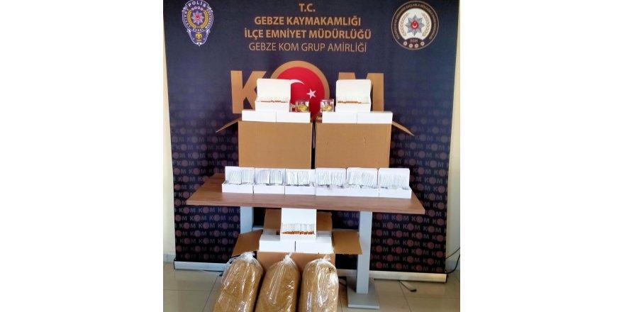 Kaçak tütün mamülleri Kocaeli polisine takıldı