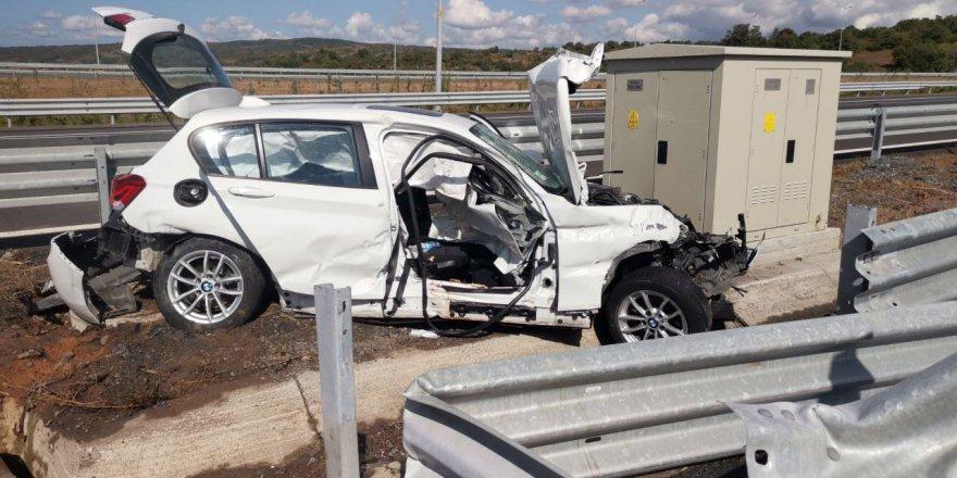 Marmara Otoyolu'nda kahreden kazada