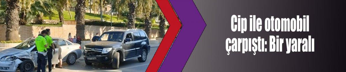 Cip ile otomobil çarpıştı: Bir yaralı