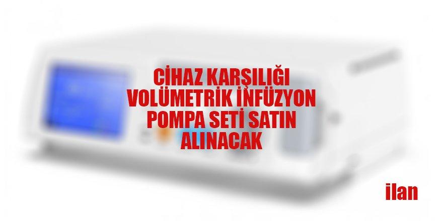 VOLÜMETRİK İNFÜZYON POMPA SETİ SATIN ALINACAK