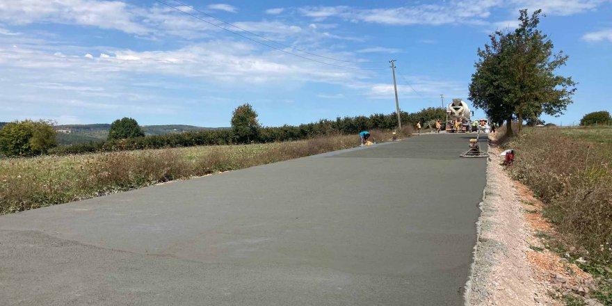Köylere beton yol yapılıyor