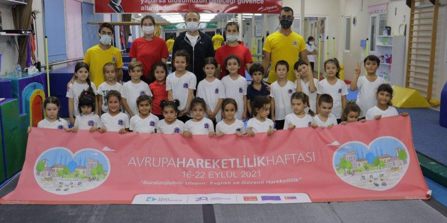 Avrupa Hareketlilik Haftası cimnastik şovuyla renklendi