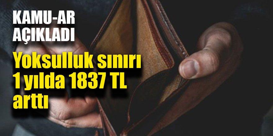Yoksulluk sınırı 1 yılda 1837 TL arttı