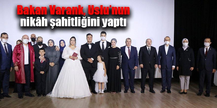 Bakan Varank, Uslu'nun nikâh şahitliğini yaptı