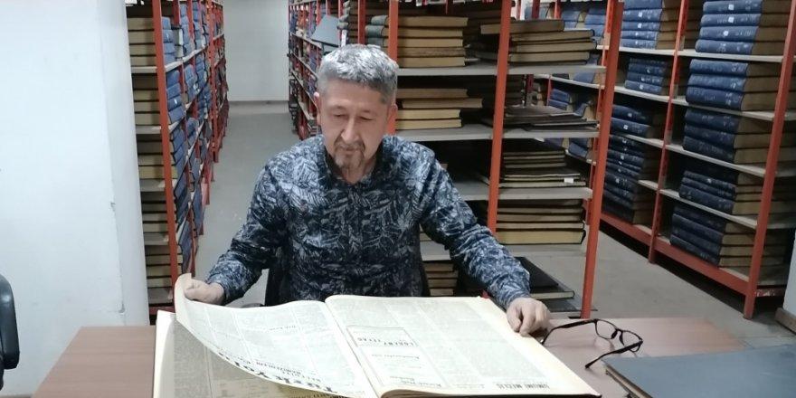 Tarihçi Şükür, arşiv çalışmalarına devam ediyor