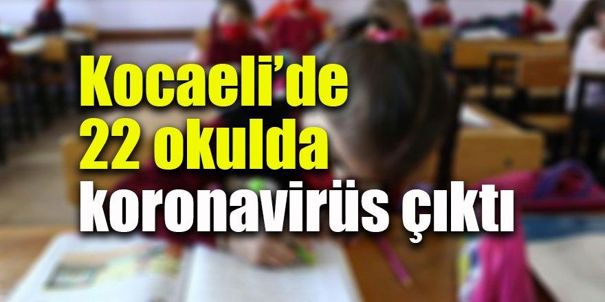 Kocaeli'de 22 okulda koronavirüs çıktı