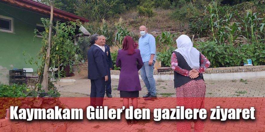 Kaymakam Güler'den gazilere ziyaret