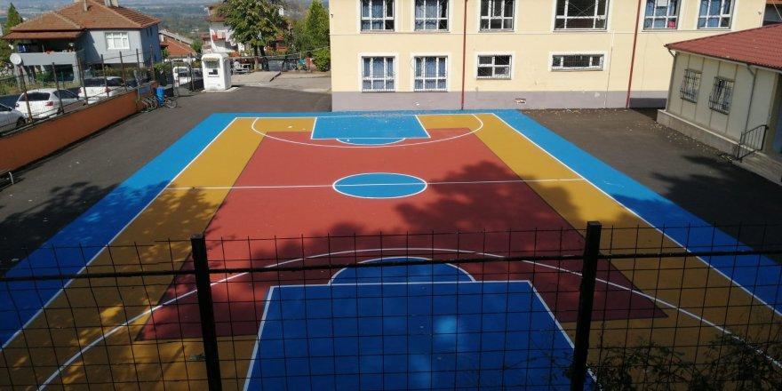 Barbaros Okulu'na trafik eğitim parkuru ve basketbol sahası yapılıyor