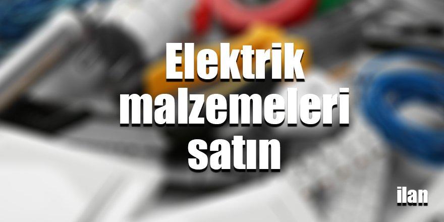 Elektrik malzemeleri satın alınacak