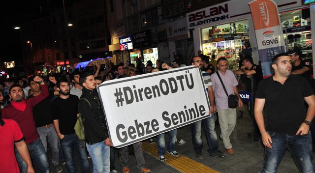 Gebze'den ODTÜ'ye destek yürüyüşü