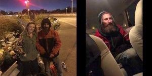 Otobandaki evsiz adam genç kadına 'arabana bin ve kapıları kitle'dedi ve dakikalar sonra …