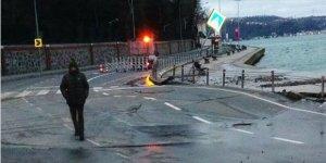 İstanbul'da sabah şoku! Sahil yolu çöktü