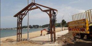 Kumcağız'daki sahil düzenlemesi