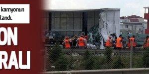 TIR ile kamyon çarpıştı: 2 yaralı