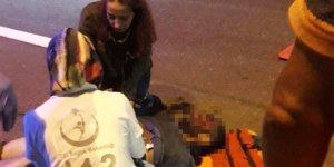 TEM'de taksinin çarptığı yaya öldü