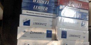 320 paket kaçak sigara ele geçirildi