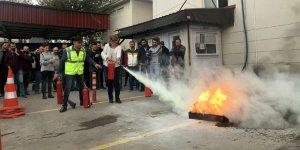 SEDAŞ çalışanlarının yangın tatbikatı