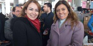 Gebze'nin kadın adayları saf  değişimi sonrası pazarda rastlaştı