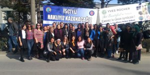 CHP'li kadınlardan Flormar işçilerine destek