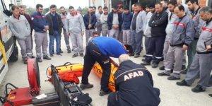 KOCAELİ AFAD: ISUZU çalışanlarına afet eğitim