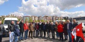 MİTİNGE GİTTİLER:CHP Kocaeli'den İmamoğlu'nda destek