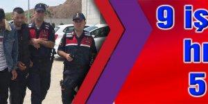 GEBZE'DE:  9 iş yerinden hırsızlığa 5 gözaltı