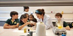 İlkokul öğrencileri sabun üretti