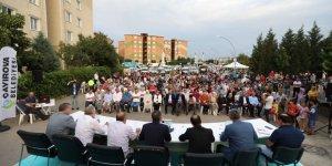 Çayırova'da  mahalle meclisi toplantısı