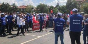 Tüpraş işçileri eylem yaptı