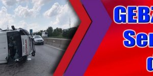 GEBZE'DE KAZA:  Servis aracı devrildi