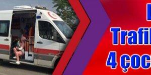 DARICA:  Trafik kazasında 4 çocuk yaralandı