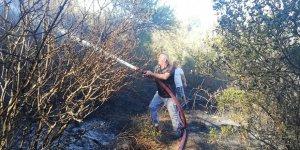 Eskihisar'da  orman yangını