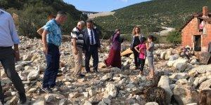 Güler'den mağdur aileye destek