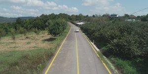 köy yolu yenilendi