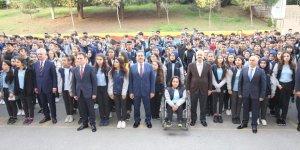 GTO Vakfı Lisesi'nde bayrak töreni