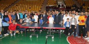 Turnuvanın açılışını Başkan Büyükgöz yaptı
