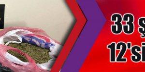 KOCAELİ'DEKİ UYUŞTURUCU OPERASYONU: 33 şüpheliden 12'si tutuklandı
