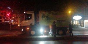 Trafik kazasına anında güvenlik müdahalesi